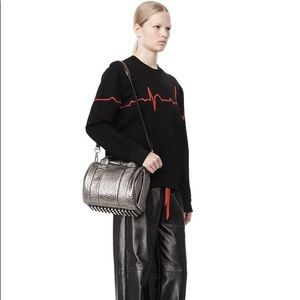 Alexander Wang rockie carbon metallic handbag bag